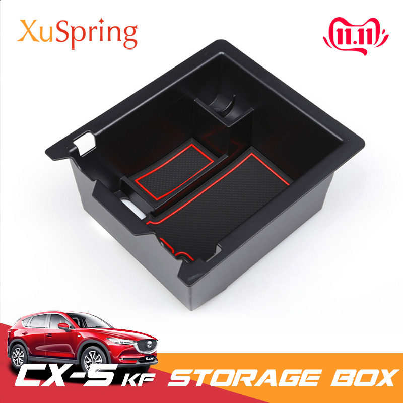 For <font><b>Mazda</b></font> <font><b>CX</b></font>-<font><b>5</b></font> CX5 2017 <font><b>2018</b></font> 2019 KF Car Console Center Armrest Storage Box Container Glove Organizer Case <font><b>Accessories</b></font> image
