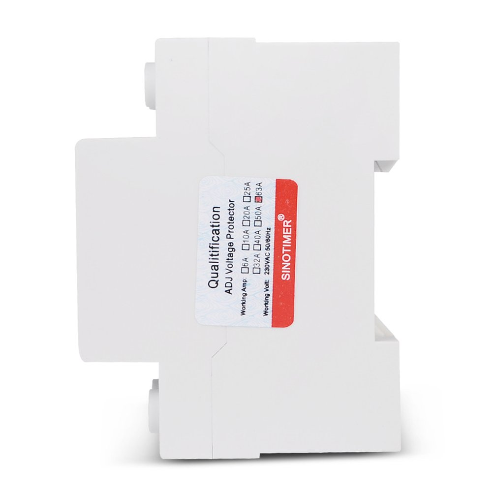 White SINOTIMER SVP-912 230V 40A//63A Under//Over Voltage Protector Relay Breaker LED 40A