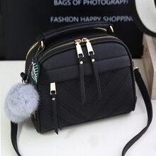 Fashion PU Leather Handbag for Women 2019 New Girl Messenger Bags with Ball Toy Bolsa Female Shoulder Bags Ladies Party Handbags цена в Москве и Питере