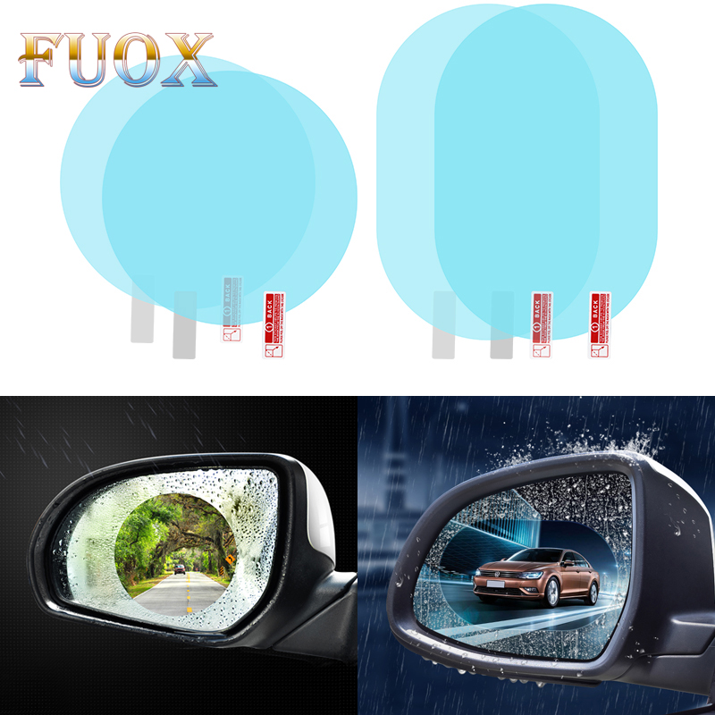 2Pcs Car Rearview Mirror Anti Fog Film Anti Rain Coating Waterproof Rainproof Film Car Window Foils Protective Films Car Styling