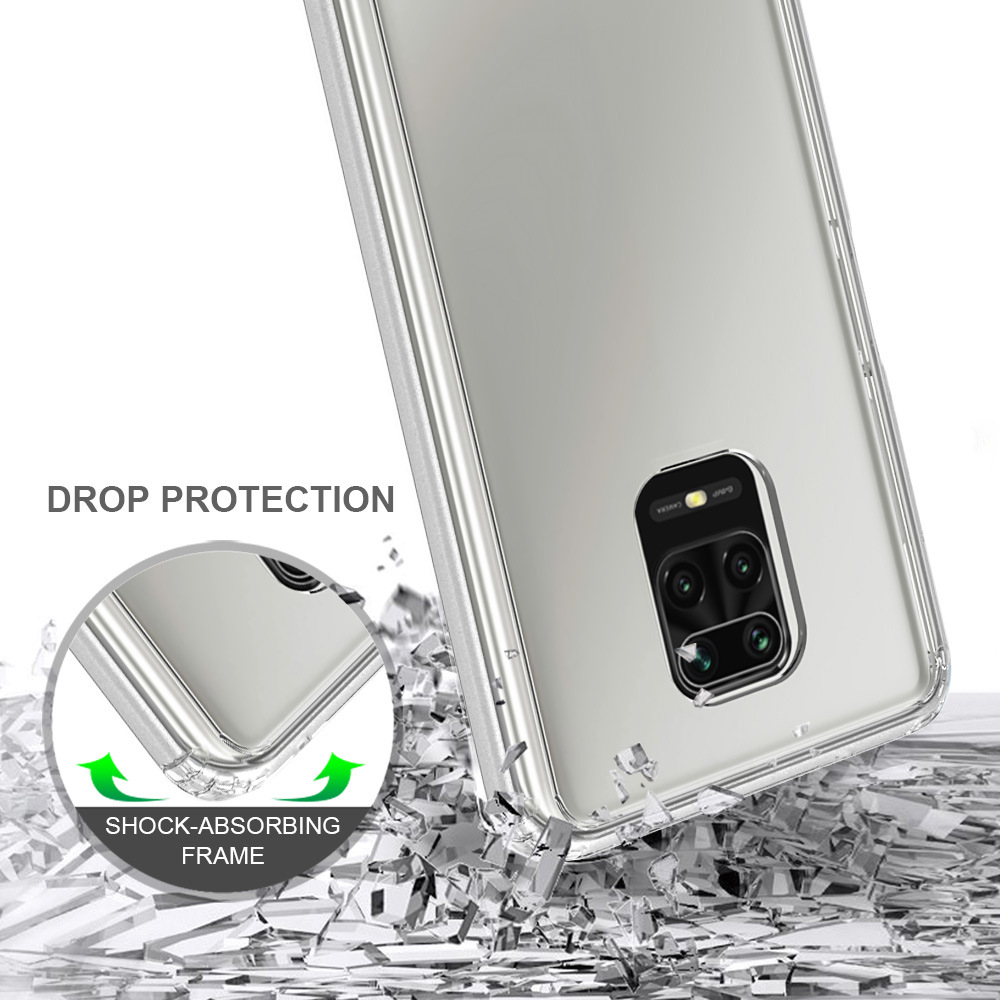 For Xiaomi Redmi Note 9S Case TPU Bumper Hard PC Acrylic Clear Hybrid Crystal Phone Cover For Xiaomi Redmi Note 9 S Pro Max Case