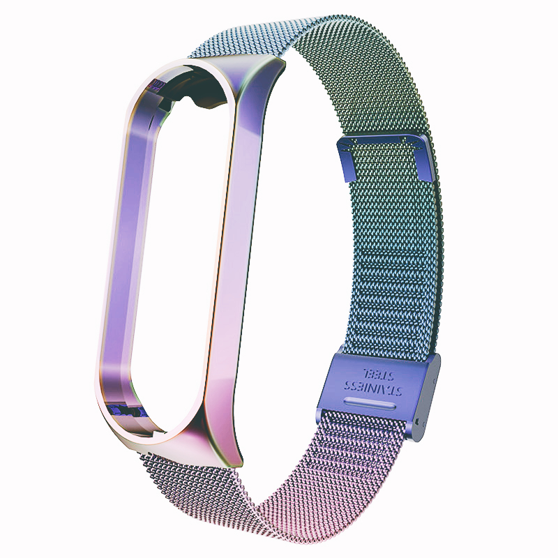 For Mi Band 4 3 Wrist Strap Metal Screwless Stainless Steel For Xiaomi Mi Band 4 3 Strap Bracelet Miband 4 3 Wristbands Pulseira