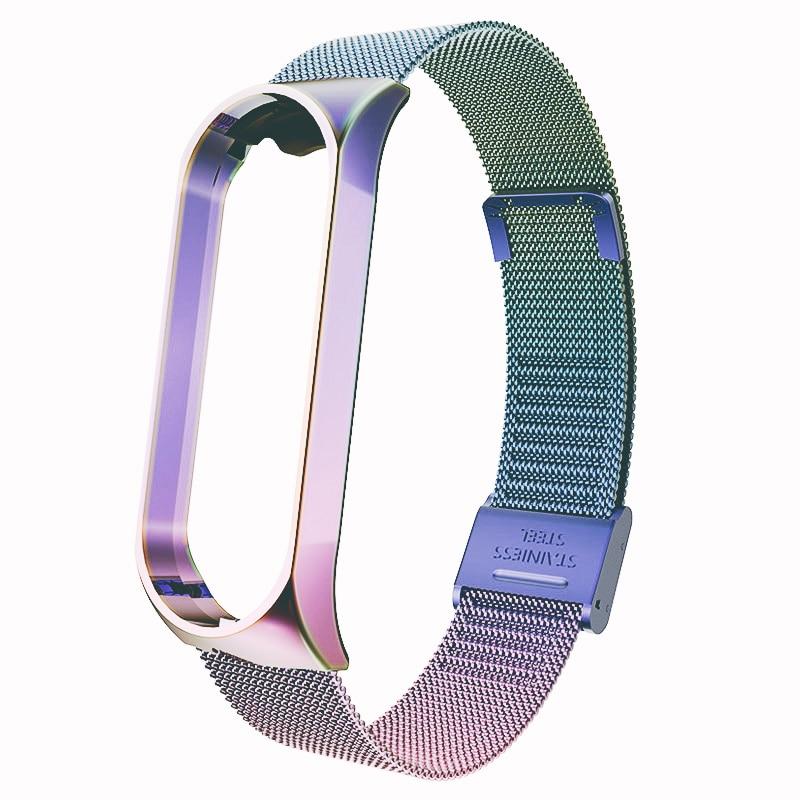 For Mi Band 4 3 Wrist Strap Metal Screwless Stainless Steel For Xiaomi Mi Band 4 3 Strap Bracelet Miband 4 3 Wristbands Pulseira