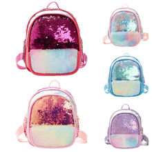 2020 Fashion Kids Sequins Backpack Glitter Bling School Travel Rucksack Handbag Backpacks Bag