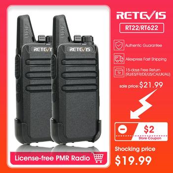 Walkie Talkie 2 sztuk RETEVIS RT22 RT622 PMR PMR446 FRS VOX UHF USB ładowania Mini walkie-talkie dwukierunkowe Radio stacji Woki Toki tanie i dobre opinie 1000 Przenośne 1 5 km-3 km 0 5 w-3 w PMR RT622 or FRS RT22 PMR 446MHz or FRS 462MHz 5 32x2 16x0 84inch(13 5x5 5x2 14cm)