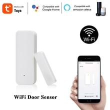 Смарт датчик двери и окна Tuya, Wi Fi, 2,4 ГГц