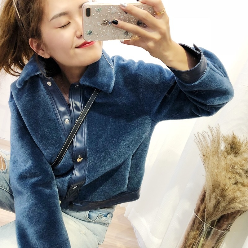 Real Fur Coat Women Korean Sheep Shearing Winter Coat Women 100% Wool Jacket for Womens Clothing 2020 Manteau Femme YY858