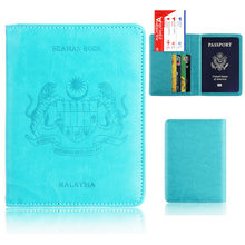 RFID Card Case PU Leather Passport Cover ID Business Card Holder Travel Credit Wallet For Men Women Passport Holder Purse