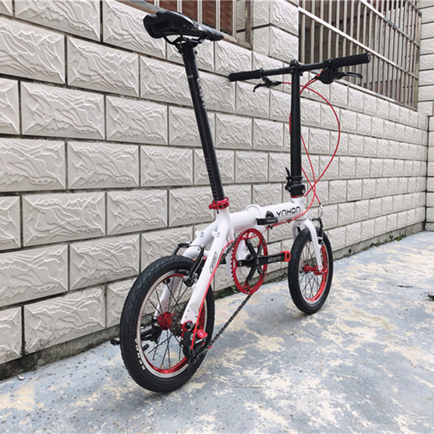 412 14/16Inch YNHON Folding Bike Aluminun Alloy Kid Children's Bicycle Mini Modification Single-speed Outside Three-speed
