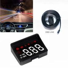 Original a100s com lente capa pára-brisa projetor obd2 ii euobd carro hud cabeça up display sistema de aviso excesso de velocidade tensão alarme