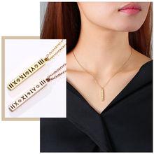 Изысканные римское ожерелье цифры для женщин подвеска на шею