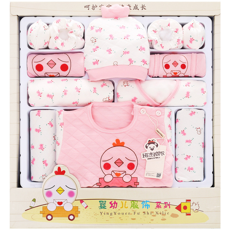 Autumn And Winter Thick Clothes For Babies Newborns Gift Box Pure Cotton Newborn BABY'S FIRST Month Baby Clothes Set Maternal An