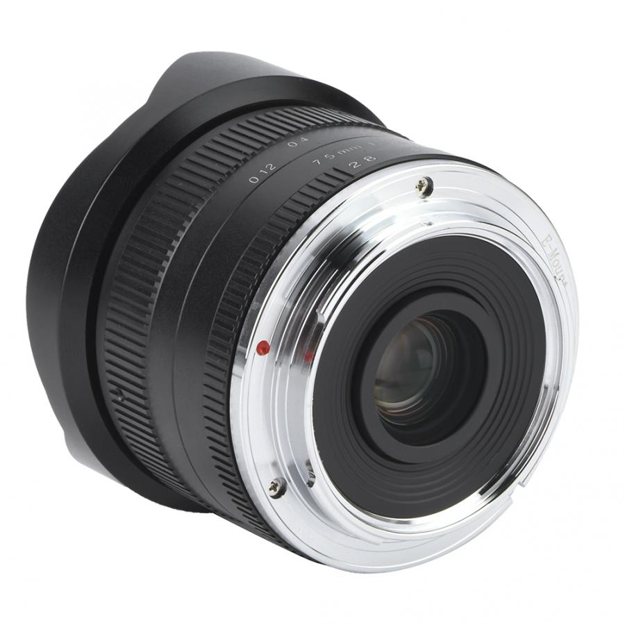 7artisans 7.5mm f2.8 fisheye lens Fixed Focus Lens180 APS-C Manual Fixed Prime Lens For Sony E-Mount/Canon EOS-M/Fuji FX/ M4/3