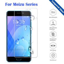 2PCS Tempered Glass for Mei zu M3 M5 M6 Note M15 9H HD Screen Protector Front Film M3S M5C M6T