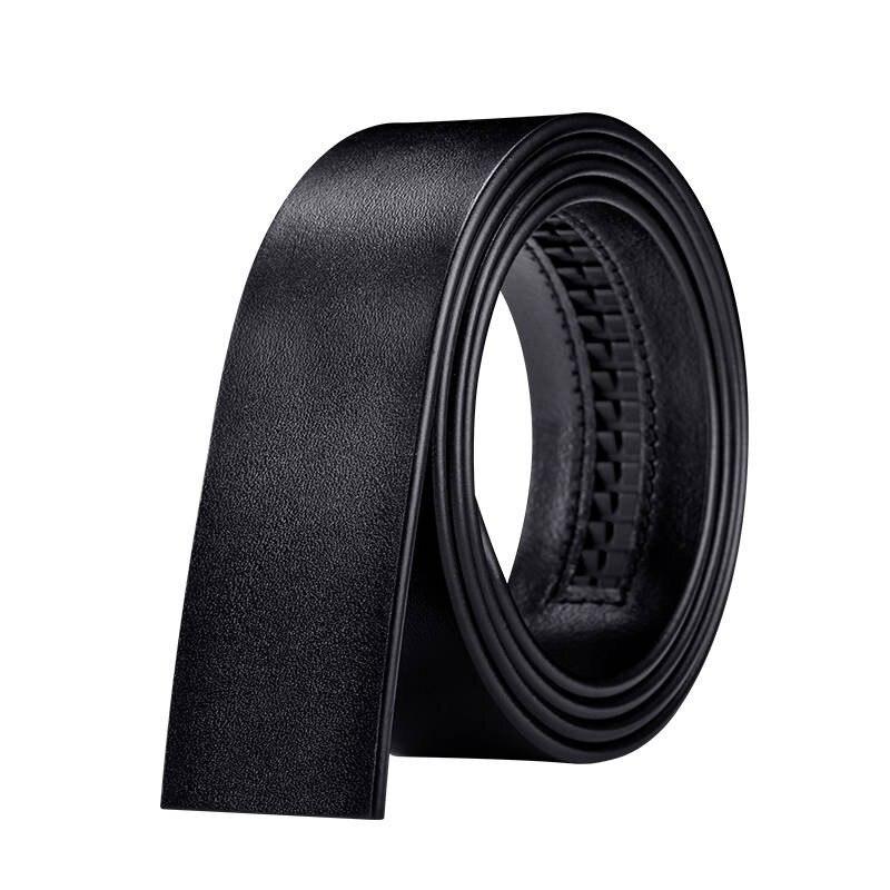 Brand Fashion Automatic Buckle Black Genuine Leather Belt Men's Belts Cow Leather Belts for Men 3.5cm Width Business Gift