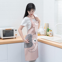 Apron Women Waterproof Lovely Japanese New Home Work Apron Kitchen Cooking Oil Proof Adult Men's Smock Customization