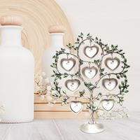 Heart Shaped Happiness Tree Picture Frame Home Decoration Metal Art Craft Creative Gift Customized Photo Accepted 1.15