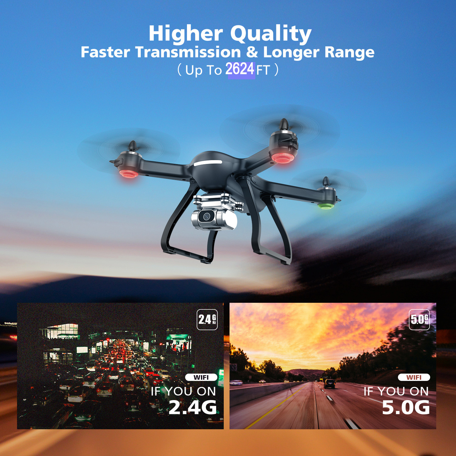Professional Drone-2K FHD Camera-WI-Fi FPV Live Video-GPS-5GHz RC Quadcopter-7