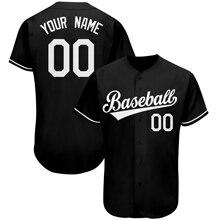 Бейсбольная Футболка, Джерси в сетку для спорта, индивидуальная вышивка, бейсбольные майки с пуговицами, дизайнерские сетчатые рубашки с V-о...