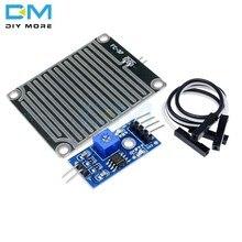 Kar yağmur damlaları algılama sensörü kartı modülü yağmur hava modülü nem Arduino için hava durumu monitörü yüksek duyarlı