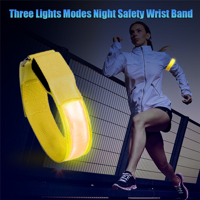 Outdoor Sports Night Running Armband Led Light Safety Belt Arm Leg Warning Wristband Cycling Bike Bicycle