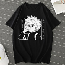 Men Women T-shirt Tops Kawaii Hunter X Hunter Tshirt Killua Zoldyck T-shirt Crew Neck Fitted Soft Anime Manga Tee Shirt Clothes