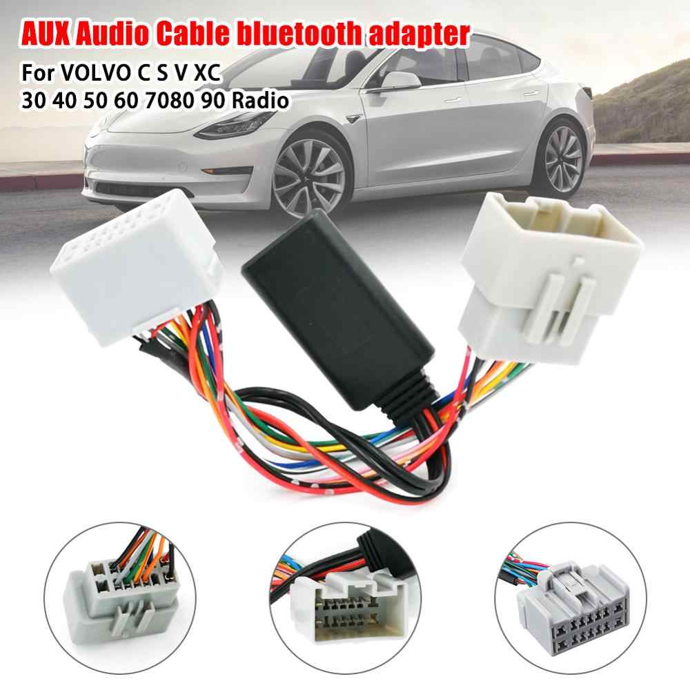 Mobil Audio Receiver AUX Bluetooth Adapter untuk Volvo C30 C70 S40 S60 S70 S80 V40 V50 V70 XC70 XC90 receiver Adaptor
