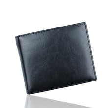 Skórzane portfele męskie Bifold Business skórzany luksusowy projektant portfele ID etui na karty kredytowe kieszenie moneta kieszonkowe portfele męskie tanie tanio 米囹 CN (pochodzenie) krótkie POLIESTER 0 59inch PU leather Stałe Biznes Men Bifold Business Leather Wallet ID Credit Card Holder Purse Pocket