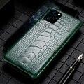 Чехол для телефона из натуральной кожи страуса для Apple iPhone 11Pro 11 Pro MAX X XS Max XR 6 6s 8 7 Plus 5 5S SE 2020  роскошный чехол