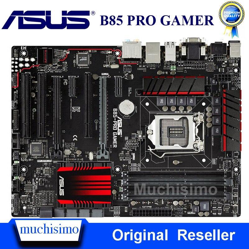 LGA 1150 DDR3 For ASUS B85-PRO GAMER 100% Original Motherboard USB3.0 32G B85 PRO GAMER Mainboard SATA III Systemboard Used