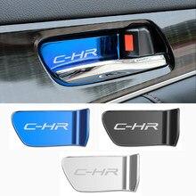 4 шт., декоративные наклейки на дверную ручку автомобиля, из нержавеющей стали