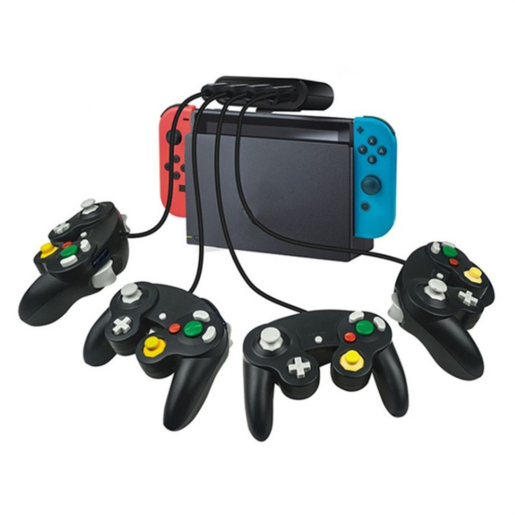 Converter For Nintend Switch/WiiU/PC/ 3in1 4Port USB For Game Cube Controller Adapter With 2 For GameCube Controller