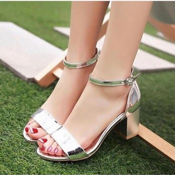 Mst-035 Silver Shiny Hot Summer Women Dress Shoes high heels Boat Shoes Wedding with Shoes