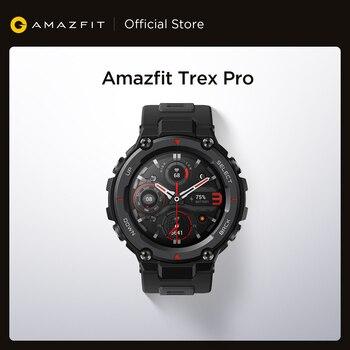 Novo amazfit t-rex trex pro t rex gps smartwatch ao ar livre à prova d18 água 18 dias de vida da bateria 390mah relógio inteligente para android ios telefone 1