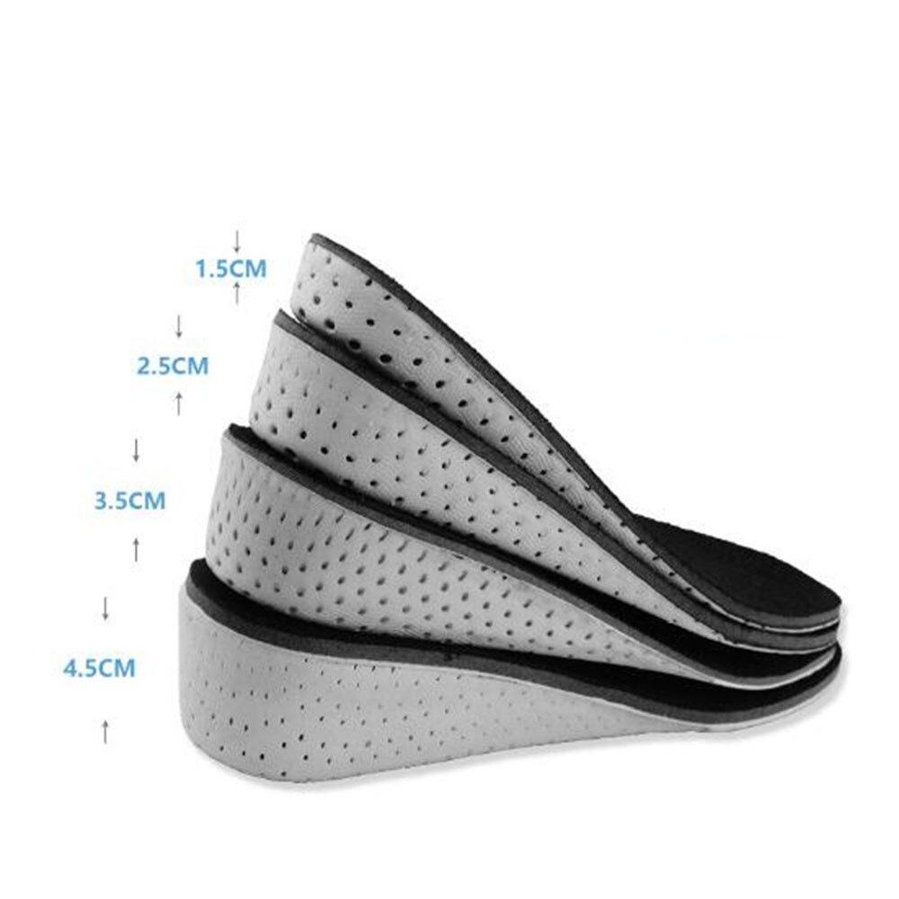 1 paar Schuh Einlegesohlen Atmungs Halbe Einlegesohle Erhöhen Heel Insert Sport Schuhe Pad Kissen Unisex 1-4,5 cm Höhe erhöhen Einlegesohlen