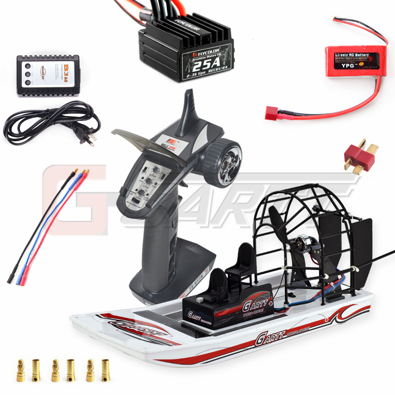 Gartt High Speed Swamp Dawg RC Air Boat Kit New COMBO RC 1 Remote Control Toys Beach Water Snowy For Children Christmas Gift