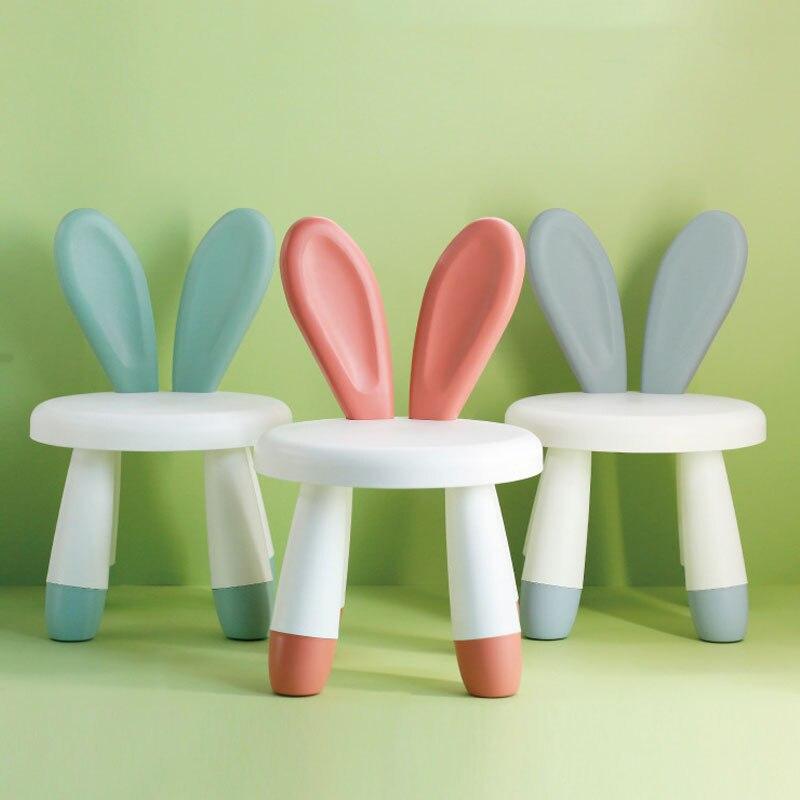 Sillas Children Backrest Chairs Plastic Kindergarten Baby Cartoon растущий стул Small Bench Child Cute Non-Slip Household Seat