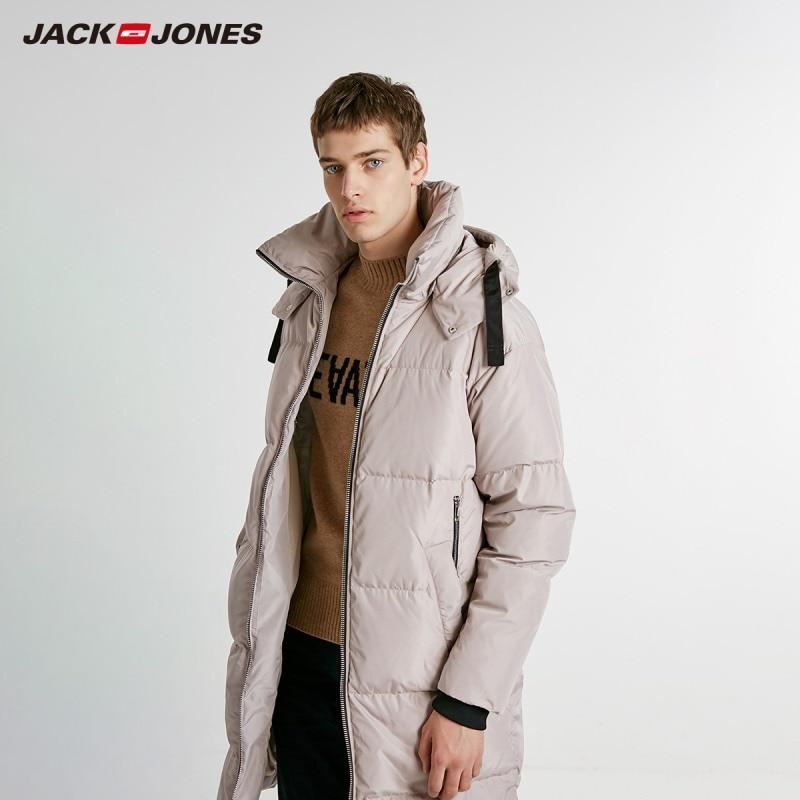 JackJones Winter Men's Long Down Jacket Parka Coat Overcoat Menswear 218412513