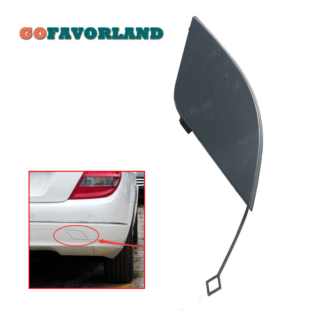 Unpainted Rear Bumper Tow Hook Cover Cap Primed 2048850823 For Mercedes Benz C Class W204 C180 <font><b>C200</b></font> C250 C280 C350 C300 C63 AMG image