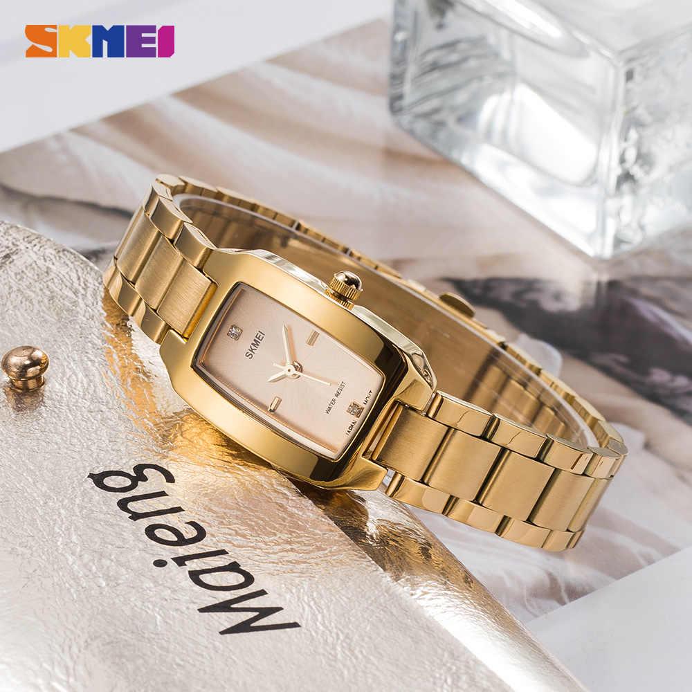 2020 SKMEI moda kadın kız Quartz saat lüks elmas arama bilezik bayanlar kadın kol saati zarif Relogio Feminino 1400