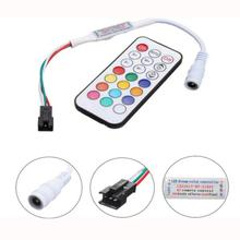 Мини RF 2811 светодиодный контроллер с 21 клавишами беспроводной пульт дистанционного управления для DC5V 12V 24V WS2811 2812 Мечта Цвет светодиодные полосы света