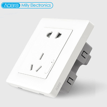 Aqara Smart Wall Socket ZigBee Wireless Mijia Wall Socket Switch Work For Xiaomi Smart Home Kits APP