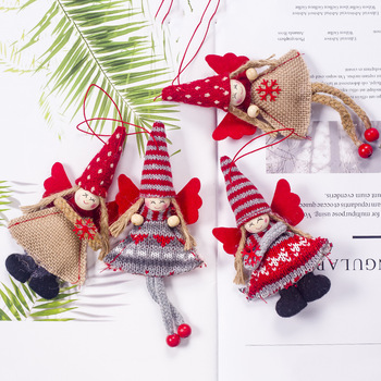 Long and short leg fabric angel girl Elf Doll Xmas Gift Christmas Tree Decoration Hanging Pendant Christmas Party Decor New Year