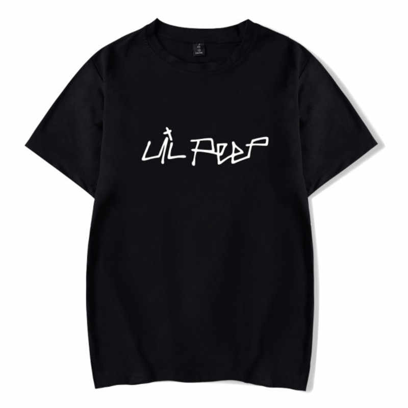 Newest Lil Peep T Shirts Men Cotton Short Sleeves O-neck brand Hip Hop Casual EU Sizes Black White Women Summer Tops Streetwear