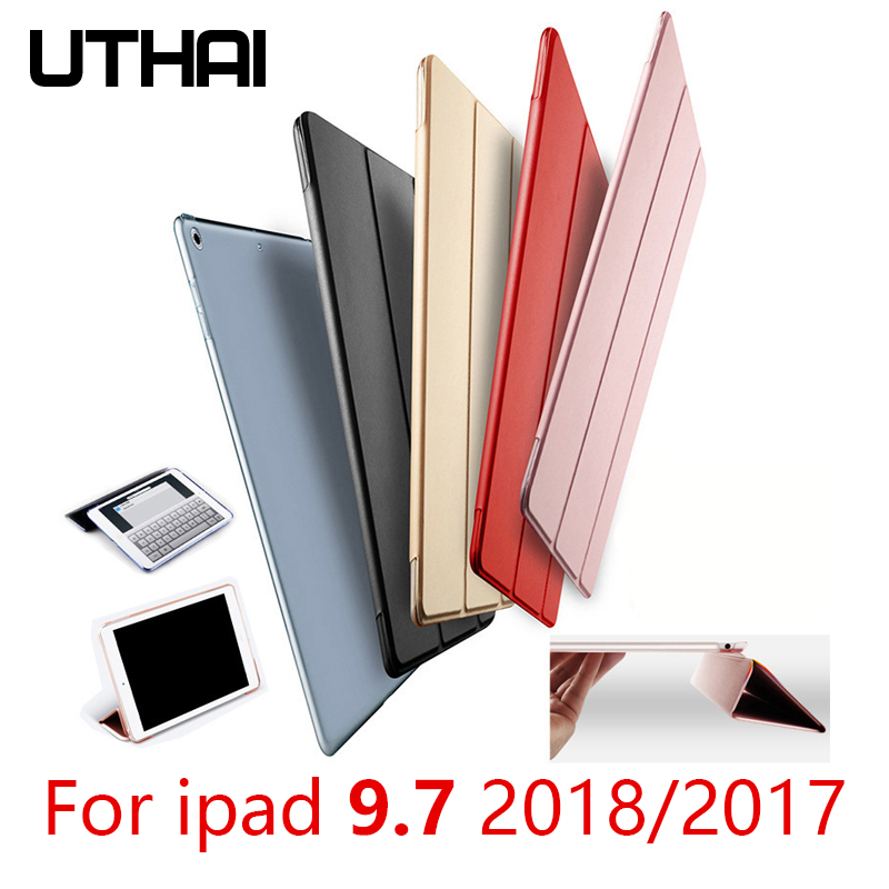 UTHAI E024 For IPad 9.7 2018/2017 Ultra-thin Transparent Matte Explosion-proof And Drop-proof Sleep / Wake Magnetic Case