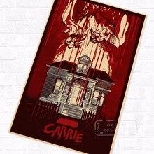 Pop Carrie Sister película de terror Vintage cartel Retro de Kraft decorativo DIY Pared de lona pegatina hogar Bar arte Posters Decoración