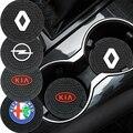 1 шт., автомобильный нескользящий коврик для подстаканника Volvo XC40/XC60/XC90/XC70/S60/S80/S90/C30/V70/V90/V50