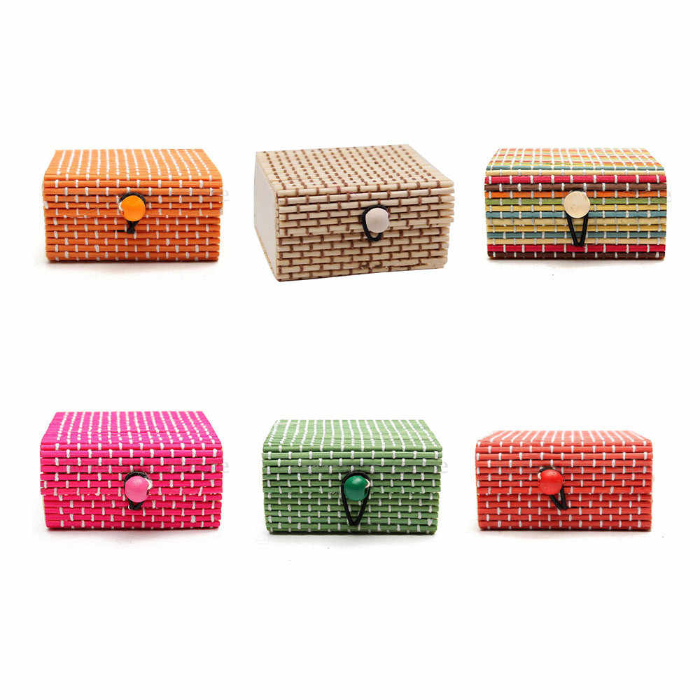 Neue Bambus Holz Schmuck Box Ring Halskette Ohrringe Kleinigkeiten Lagerung Fall Halter Geschenk Bambus Schmuck Box/joyeros organizador de