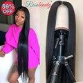 Прямые человеческие волосы 180 250 плотности на фронте, парики из бразильских волос Remy, прозрачные для черных женщин, 28, 30 дюймов, кружевные пер...
