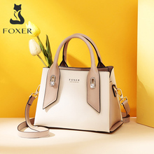 FOXER Luxury Style Purse for Ladies Cowhide Leather Female E